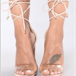 Women's shoes clear/nude
